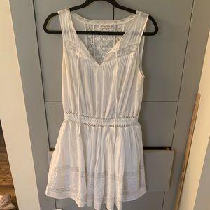 LoveShackFancy Inez white lace popover dress 2